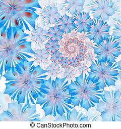 flor azul, palette., espiral, experiência., gerado,...