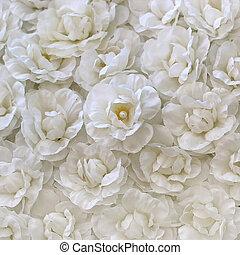 flor blanca, jazmín, artificial