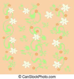 flor branca, videiras