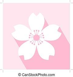 flor cereja, ícone