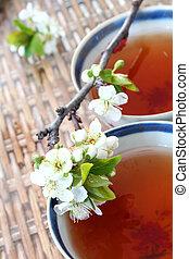 flor, chá