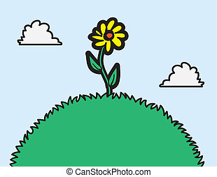 flor, colina