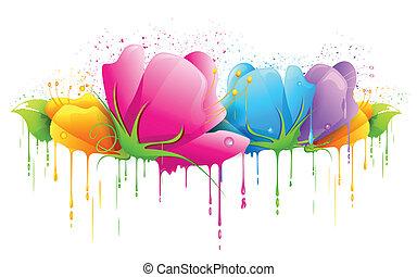 flor, coloridos