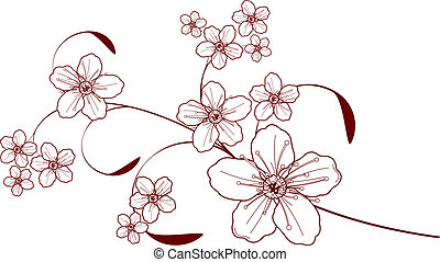 flor de cerezo, diseño