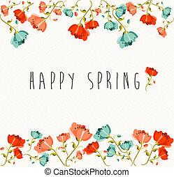 flor de primavera, composición, feliz