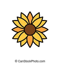flor, decoração, ornamento, natureza, desenho