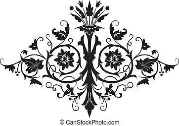 flor, desenho, elemento