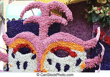 flor, desfile, composición, de, hyacints