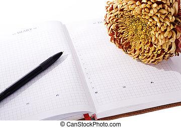 flor, diário, pessoal