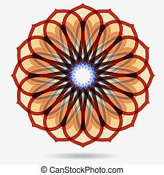 flor, eco, vector, diseño, element., icono