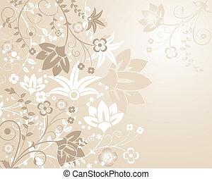 flor, elementos, desenho, fundo