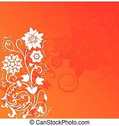flor, elementos, diseño, plano de fondo