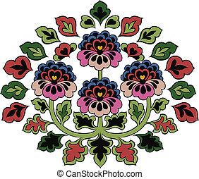 flor, emblema, coloridos, ramo