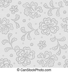 flor, encaje, vendimia, seamless, patrón, fondo., vector