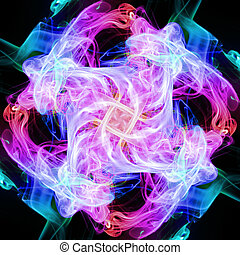 flor, espiral