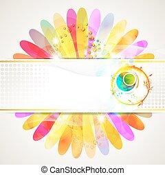 flor, experiência colorida