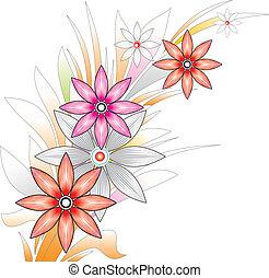flor, fantasia, grupo