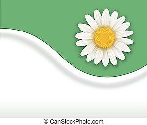 flor, fondo verde
