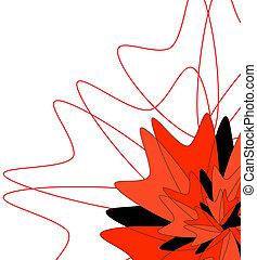 flor, fundo, fundo, multi-colorido, flores brancas