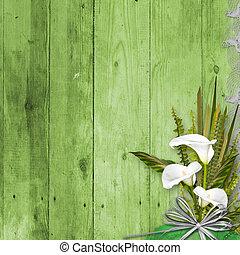 flor, grunge, quadro, fundo, abstratos, grupo