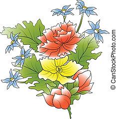 flor, grupo