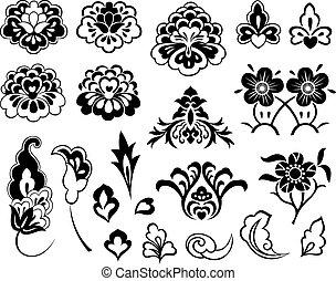 flor, jogo, ilustração