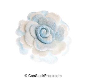 flor, lana, hechaa mano