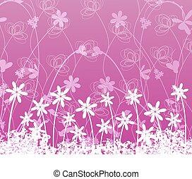 flor, ligado, experiência roxa