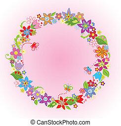 flor, marco