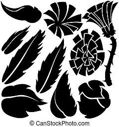 flor, mercado de zurique, elementos