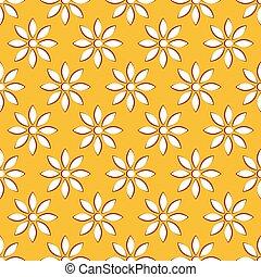 flor, motivo, naturaleza, ilustración, relacionado, conceptos