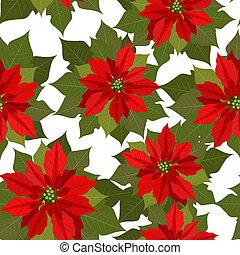 flor, natal, textura, seamless