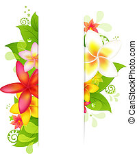 flor, natural, fundo