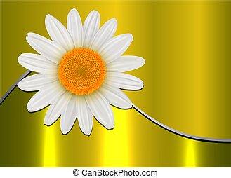 flor, oro, plano de fondo