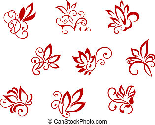 flor, patrones