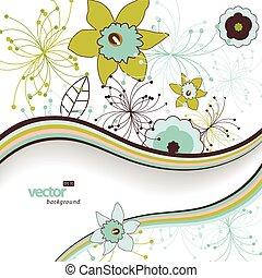 flor, plano de fondo, con, lugar, para, su, text.