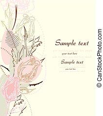 flor, plano de fondo, con, lugar, para, su, texto