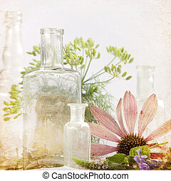 flor, plano de fondo, hierbas medicinales