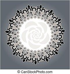 flor, plano de fondo, vector