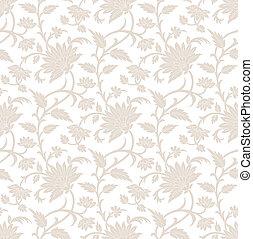 flor, real, seamless, papel pintado
