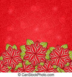 flor roja, naturaleza, plano de fondo, tarjeta