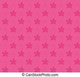 flor rosa, -, patrón, vector, adenium, plano de fondo, ...