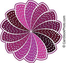 flor roxa, ligado, um, fundo branco