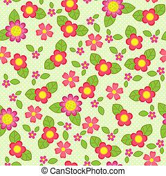 flor, seamless, patrón