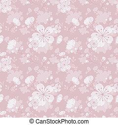 flor, seamless, patrón, plano de fondo
