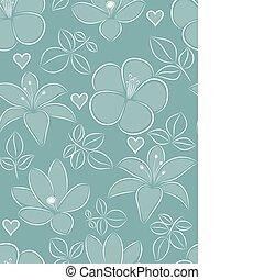 flor, seamless, pattern.