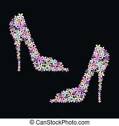 flor, shoes
