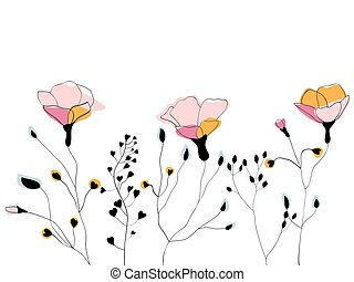 flor silvestre, campo