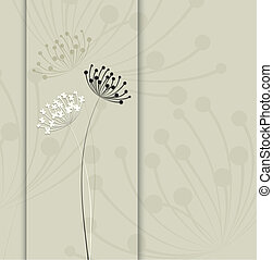 flor, simple, fondo., vector, diseño, limpio, template.