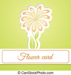 flor, tarjeta